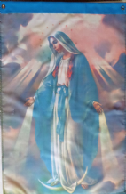 "Our Lady, The Blessed Virgin Mary Motivational Christian 28"" x 40"" (71cm x 102cm) Hanging Flag Banner"